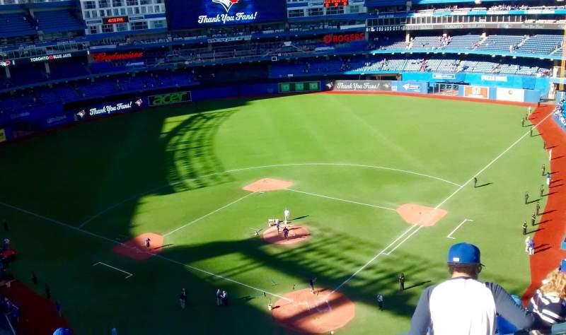 Seating view for rogers centre Section 524bl Row 10 Seat 104