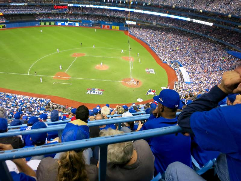 Seating view for Rogers Centre Section 528R Row 10 Seat 10