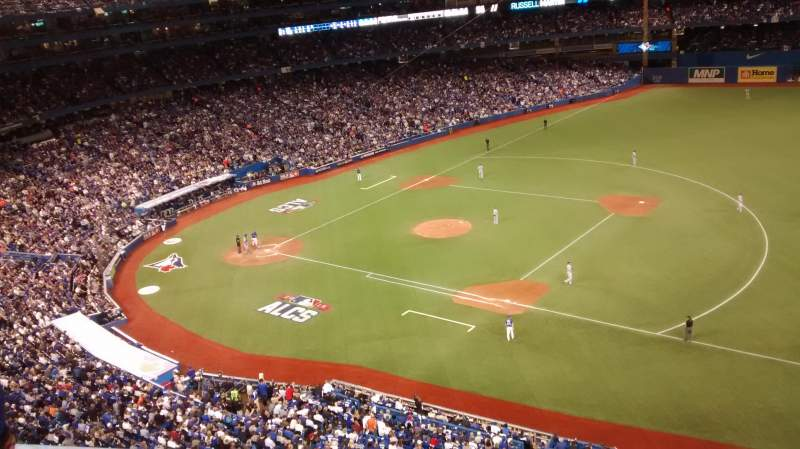Seating view for Rogers Centre Section 515 Row 2 Seat 110