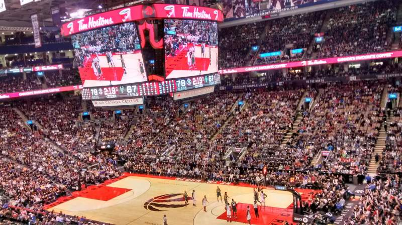 Seating view for air canada centre Section 319 Row 2 Seat 3