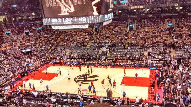 Seating view for Air Canada Centre Section 320 Row 4 Seat 7