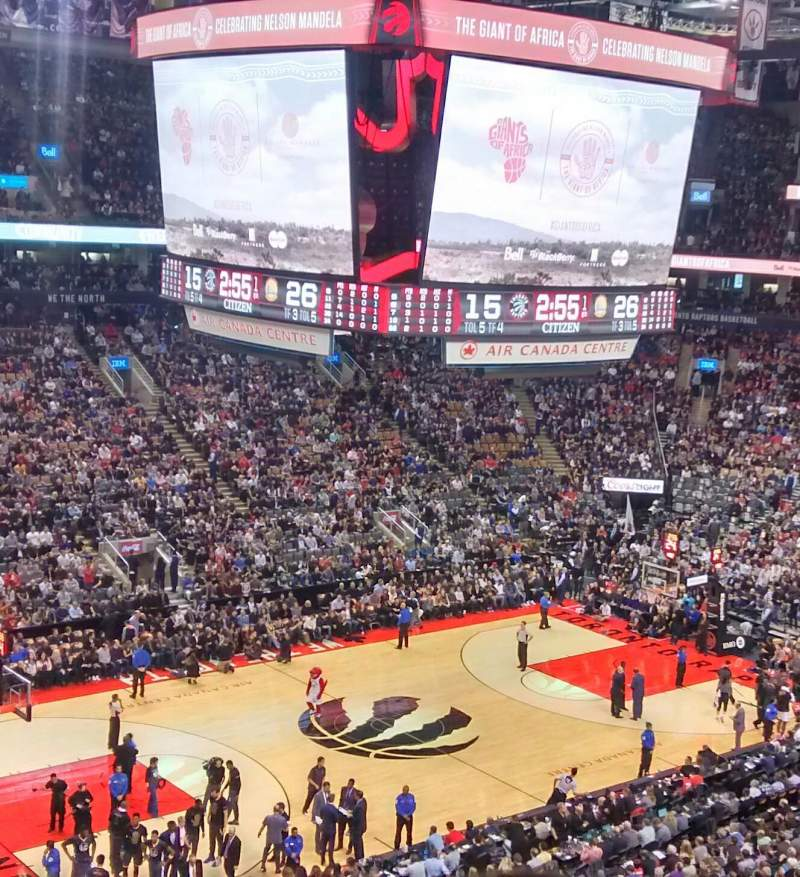 Seating view for Air Canada Centre Section 323 Row 4 Seat 17