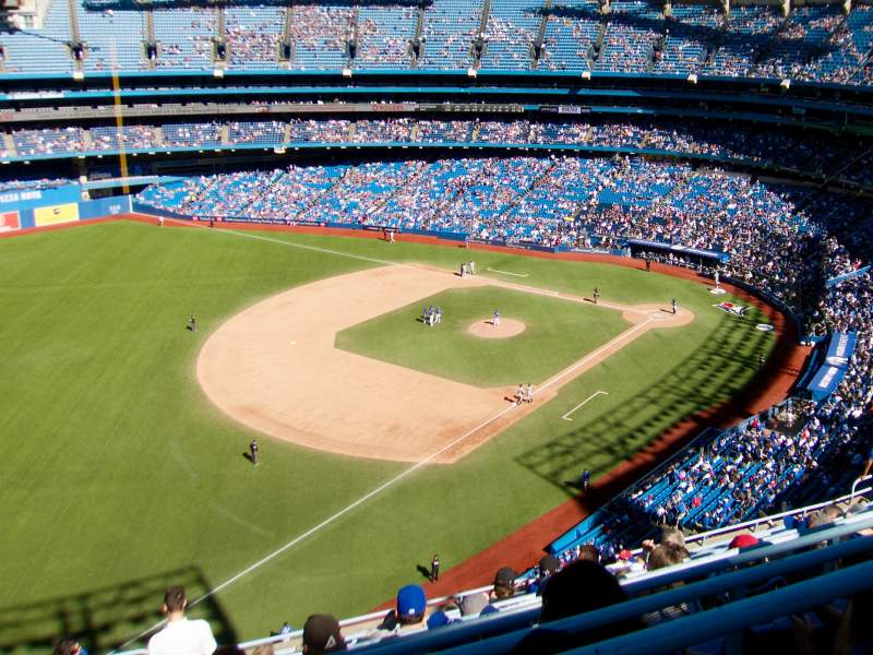 Seating view for Rogers Centre Section 533L Row 20 Seat 105