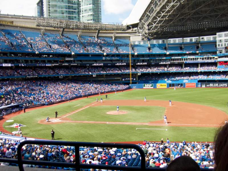 Seating view for Rogers Centre Section 218 Row 3 Seat 1