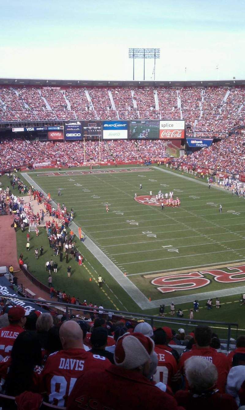 Seating view for Candlestick Park Section UR2 Row 9 Seat 3 and 4