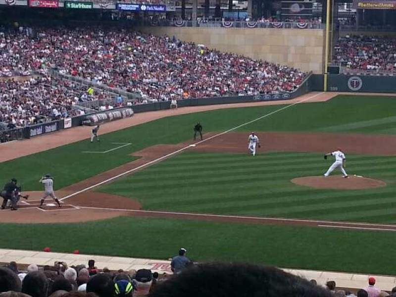 Seating view for Target Field Section 109 Row 23 Seat 1