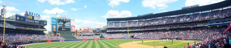 Seating view for Turner Field Section 120L Row 23 Seat 102