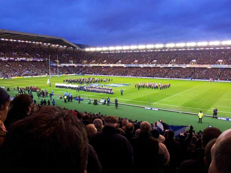 Seating view for Murrayfield Stadium Section W9 Row HH Seat 9