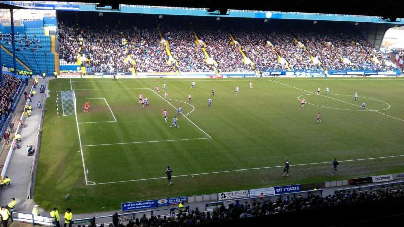 Seating view for Hillsborough Stadium Section Grandstand M5 Row A Seat 10