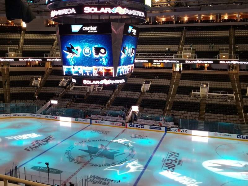 Seating view for SAP Center Section 214 Row 3 Seat 7