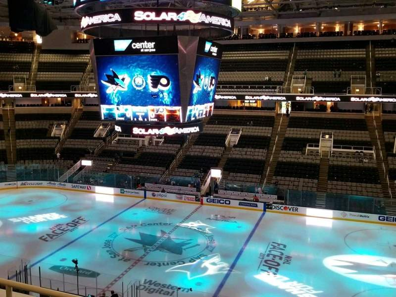 Seating view for SAP Center Section 214 Row 3 Seat 8