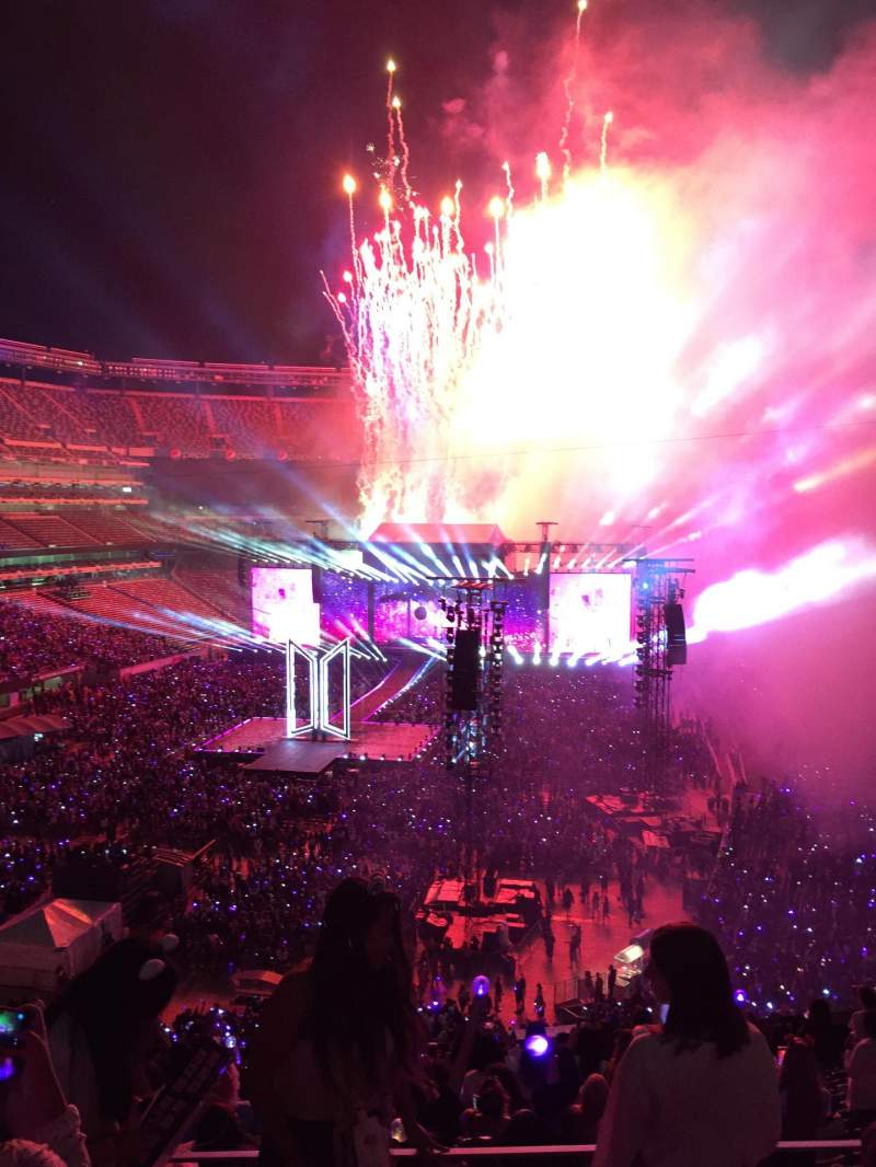 Seating view for MetLife Stadium Section 224B Row 1 Seat 1