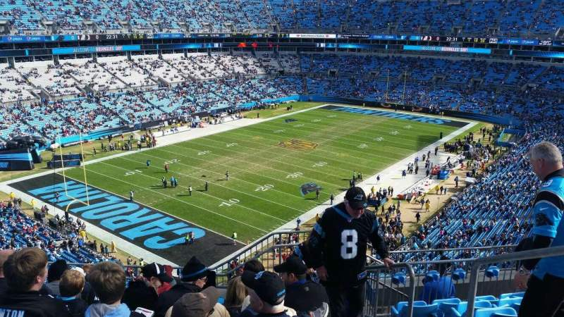 Seating view for Bank of America Stadium Section 550 Row 5 Seat 2