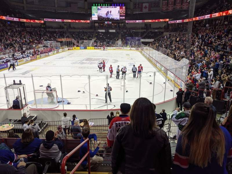 Seating view for Spokane Arena Section 123 Row P Seat 17
