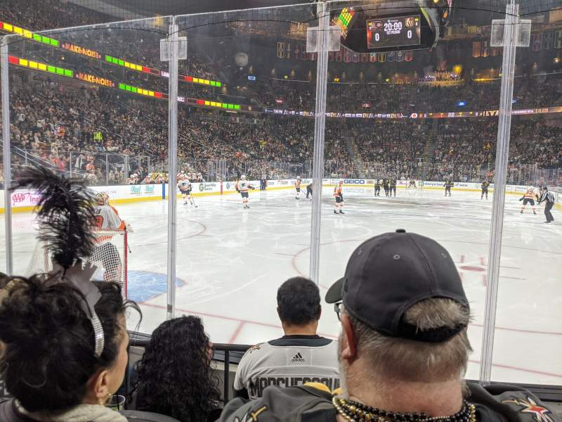 Seating view for T-Mobile Arena Section 11 Row C Seat 10