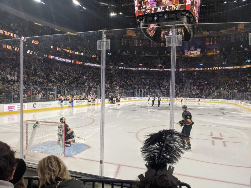 Seating view for T-Mobile Arena Section 11 Row C Seat 9