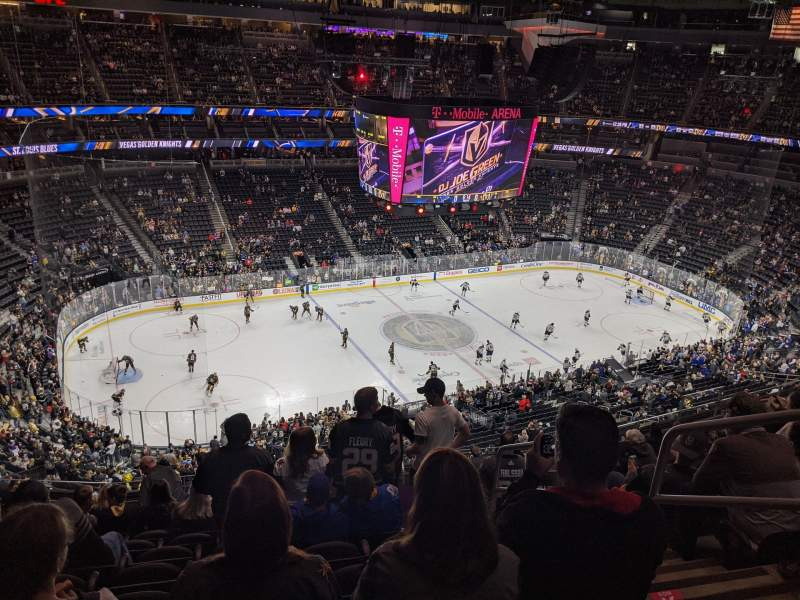Seating view for T-Mobile Arena Section 202 Row M Seat 16