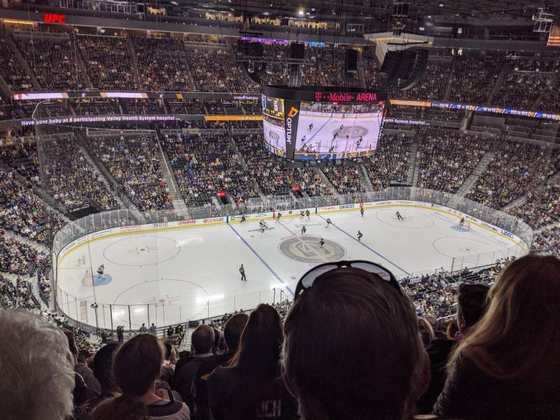 Seating view for T-Mobile Arena Section 202 Row M Seat 15
