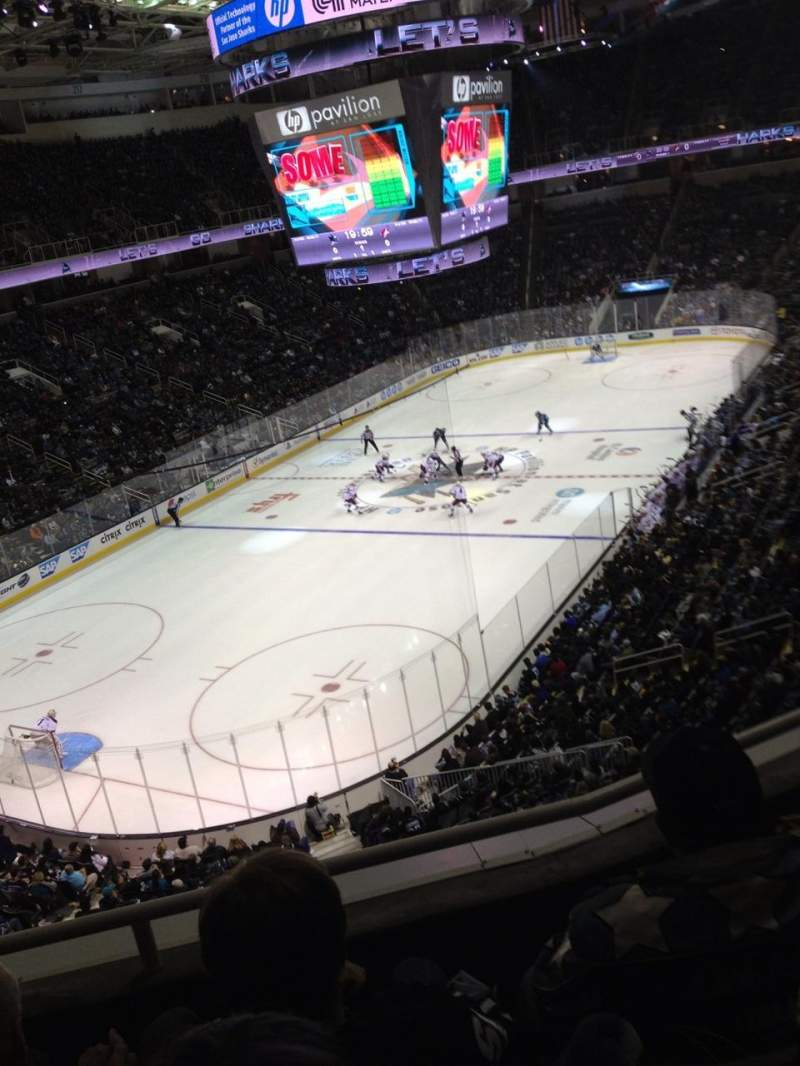 Seating view for SAP Center at San Jose
