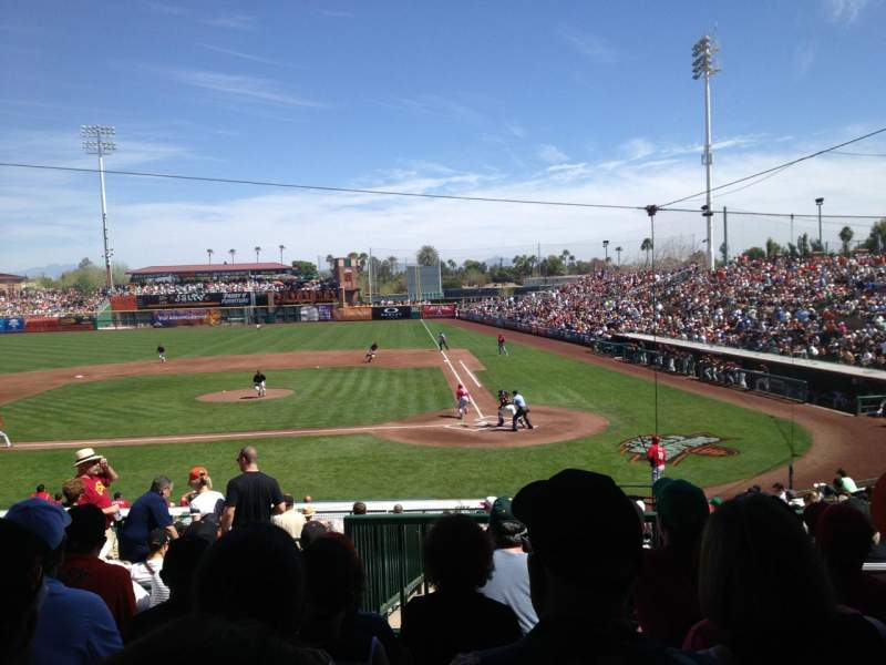 Seating view for Scottsdale Stadium Section 305 Row 6 Seat 14
