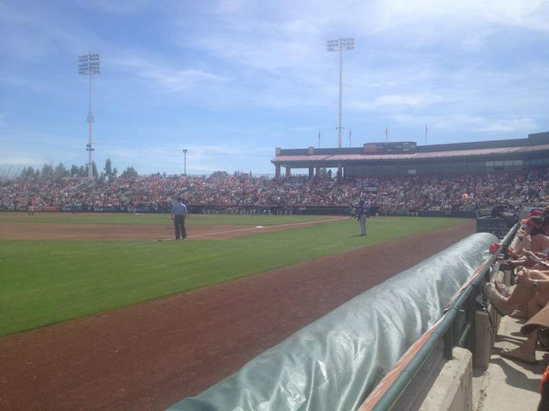 Seating view for Scottsdale Stadium Section 123 Row A Seat 5