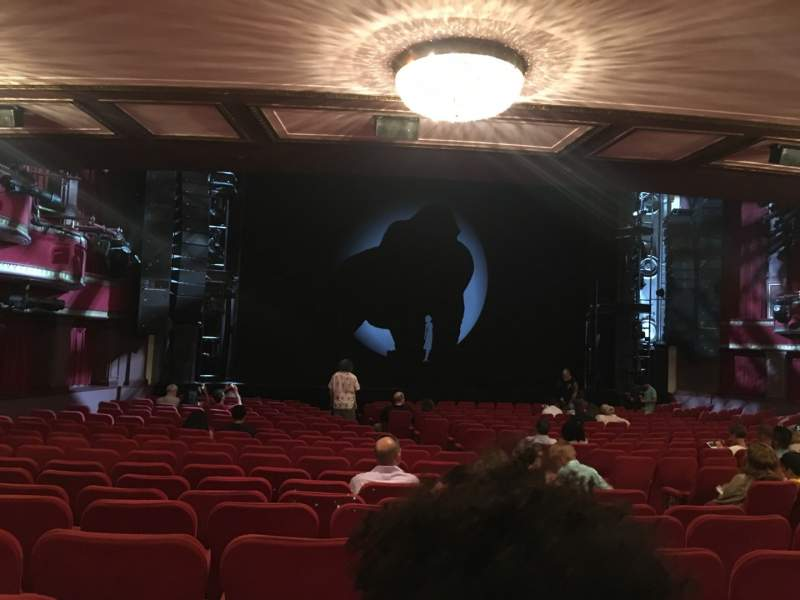 Seating view for Broadway Theatre - 53rd Street Section Orchestra L Row U Seat 12