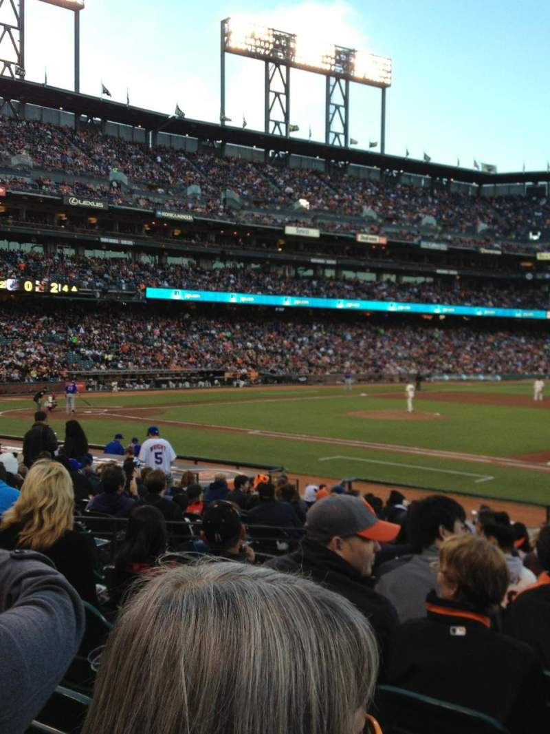 Seating view for AT&T Park Section LB106 Row 19 Seat 9