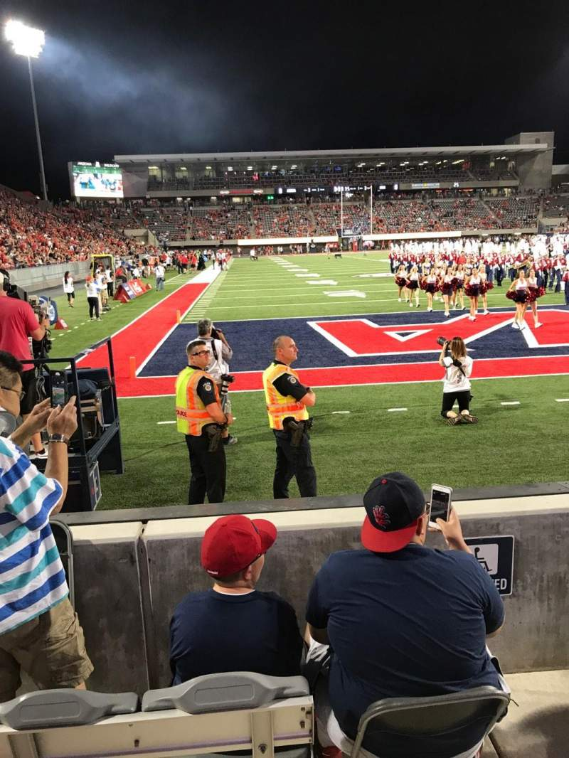 Seating view for Arizona Stadium Section 13 Row 2 Seat 27