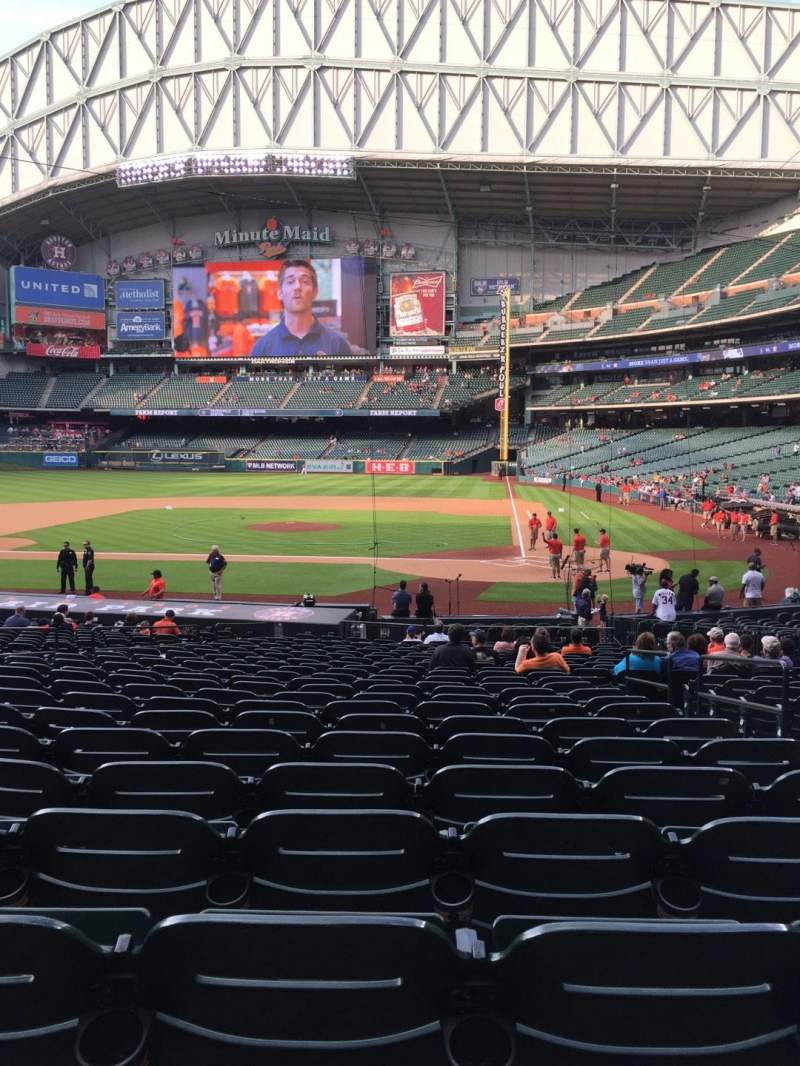Seating view for Minute Maid Park Section 116 Row 27 Seat 12