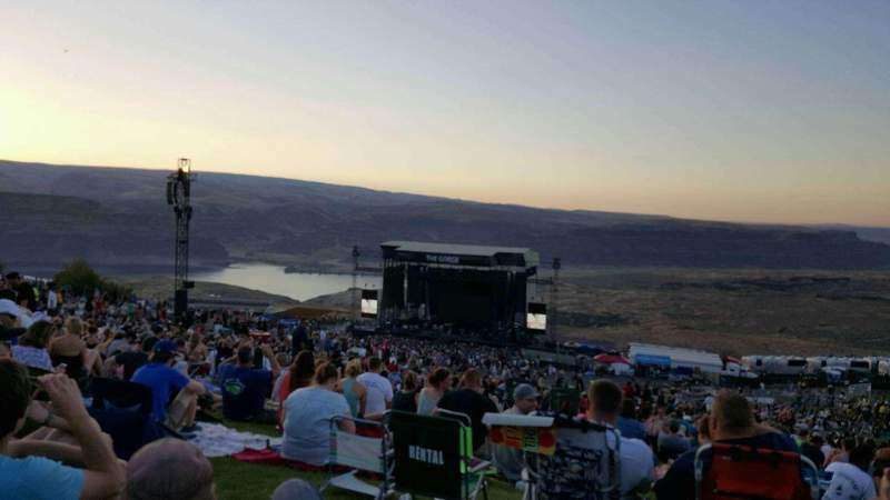 Seating view for Gorge Amphitheatre