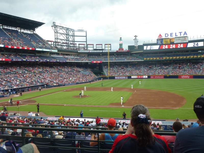 Seating view for Turner Field Section 215L Row 3 Seat 101