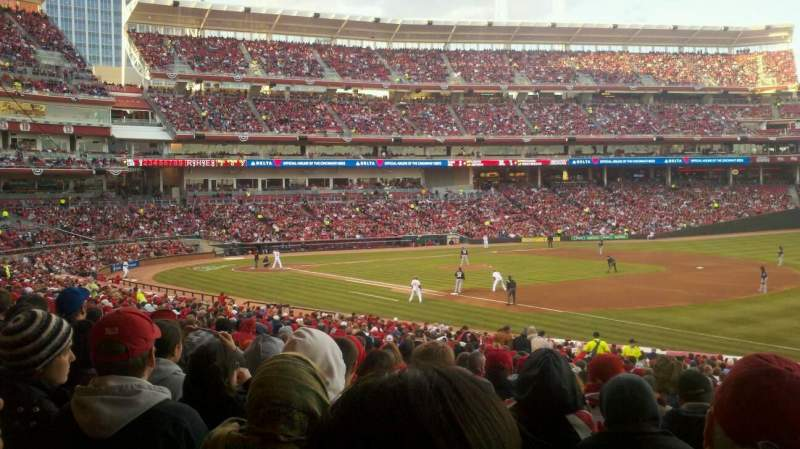 Seating view for Great American Ball Park Section 134 Row JJ Seat 1