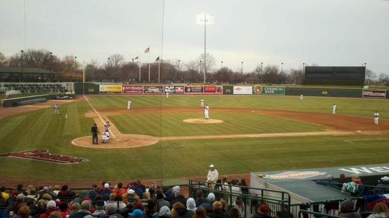 Seating view for Dow Diamond Section 109 Row 19 Seat 7
