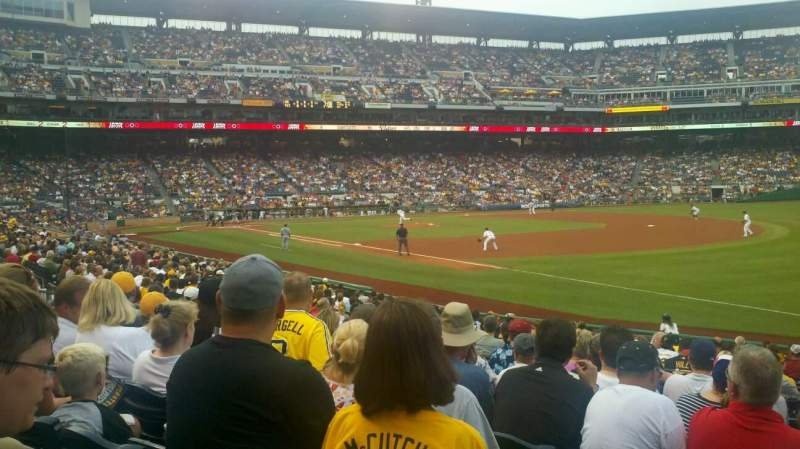 Seating view for PNC Park Section 103 Row J Seat 13