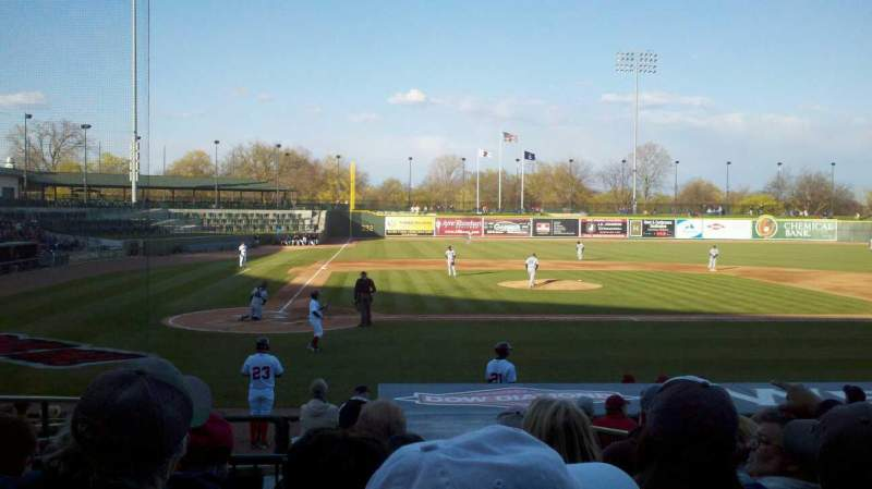 Seating view for Dow Diamond Section 110 Row 15 Seat 5