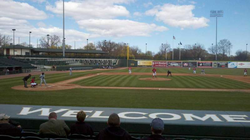 Seating view for Dow Diamond Section 111 Row 10 Seat 7