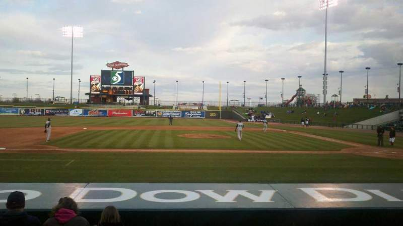Seating view for Dow Diamond Section 104 Row 9 Seat 6