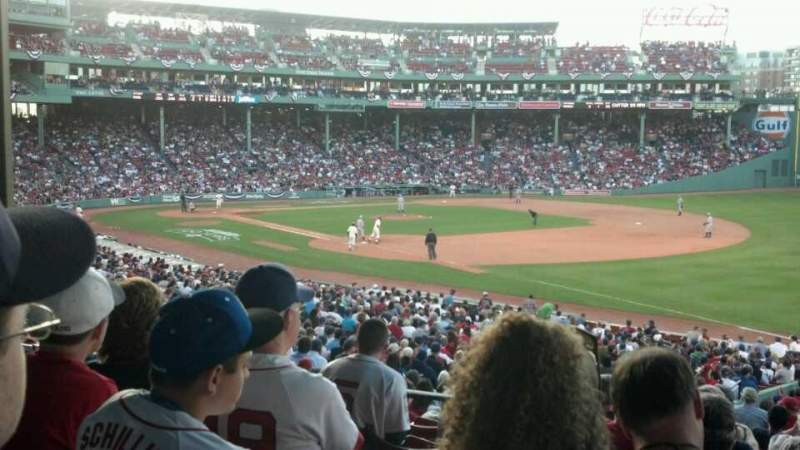 Seating view for Fenway Park Section Grandstand 10 Row 5 Seat 10