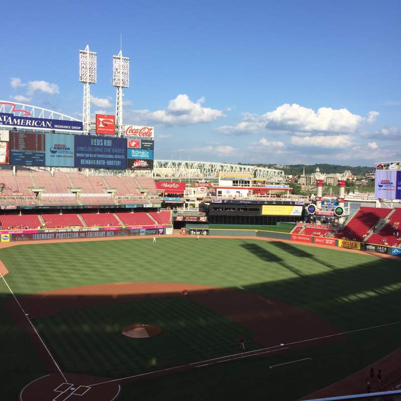 Seating view for Great American Ball Park Section 426 Row B Seat 5