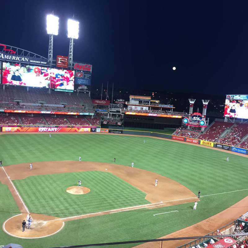 Seating view for Great American Ball Park Section 426 Row C Seat 5