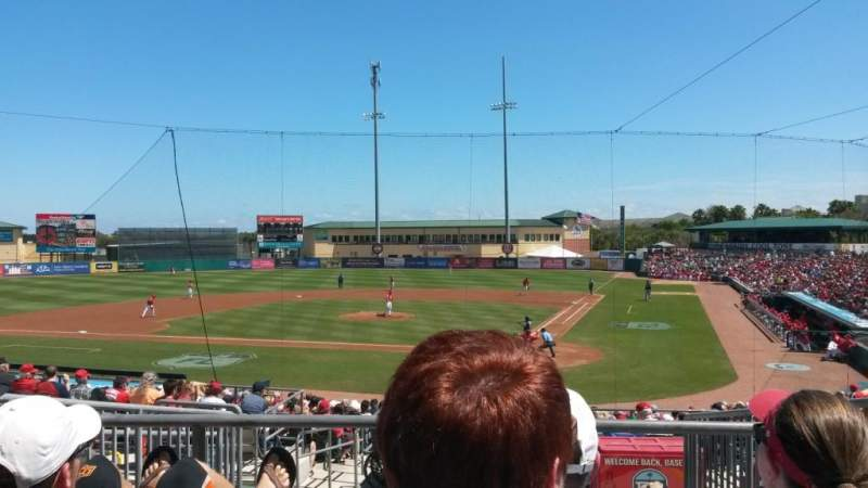 Seating view for Roger Dean Chevrolet Stadium Section 209 Row 7 Seat 3