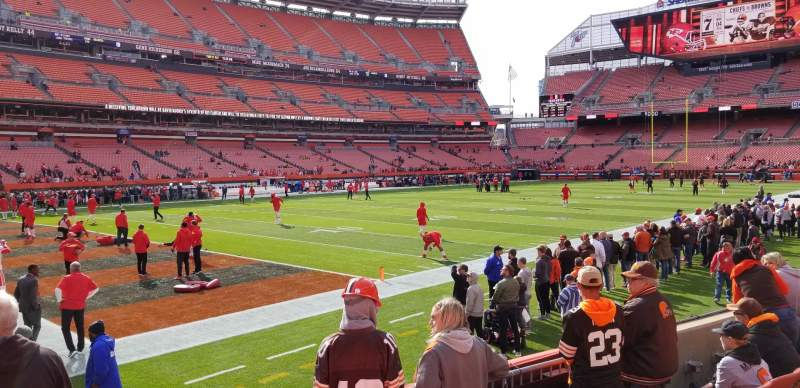 Seating view for FirstEnergy Stadium Section 127 Row 5 Seat 2