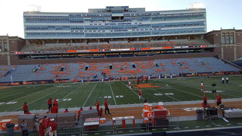 Seating view for Memorial Stadium (Champaign) Section 106 Row 17 Seat 7