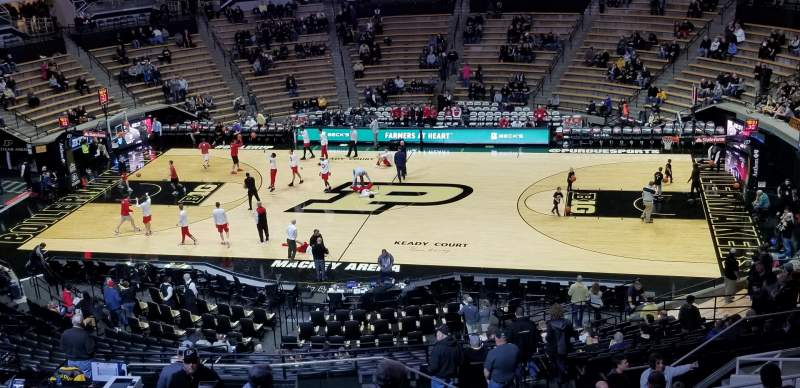 Seating view for Mackey Arena Section 109 Row 20 Seat 26