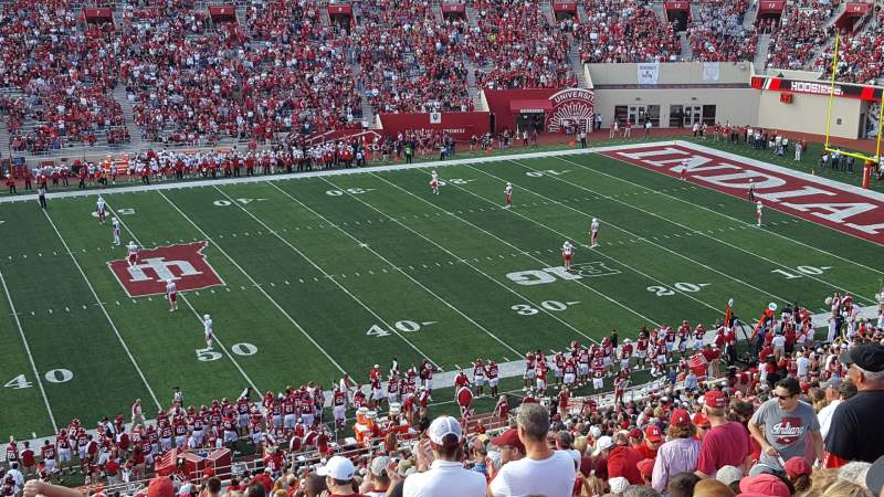 Seating view for Memorial Stadium (Indiana) Section 28 Row 67 Seat 14