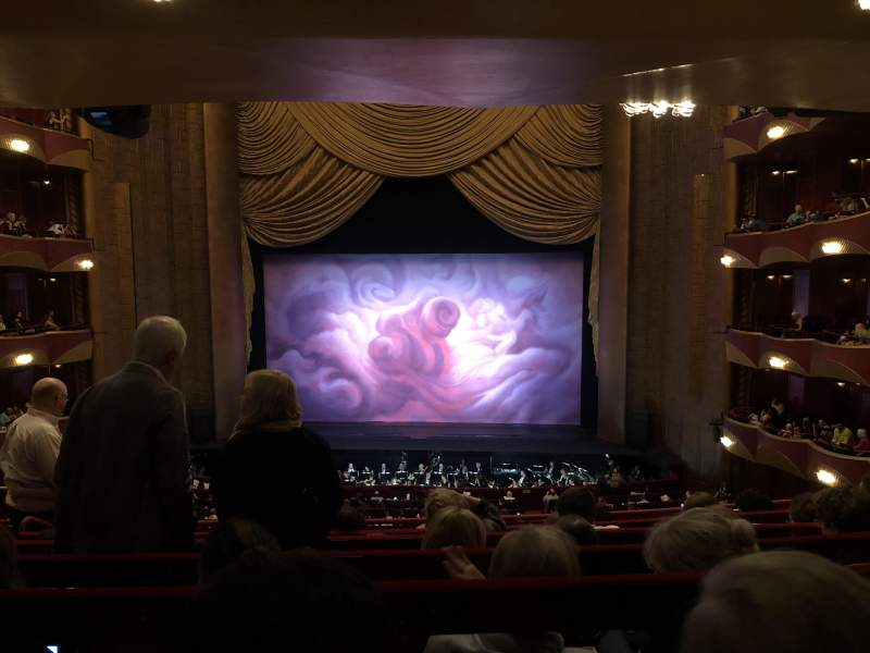 Seating view for Metropolitan Opera House - Lincoln Center Section Grand Tier Row F Seat 110