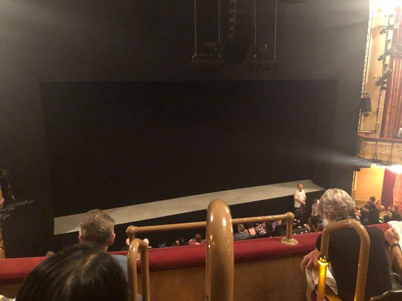 Seating view for Bernard B. Jacobs Theatre Section Mezzanine L Row C Seat 1