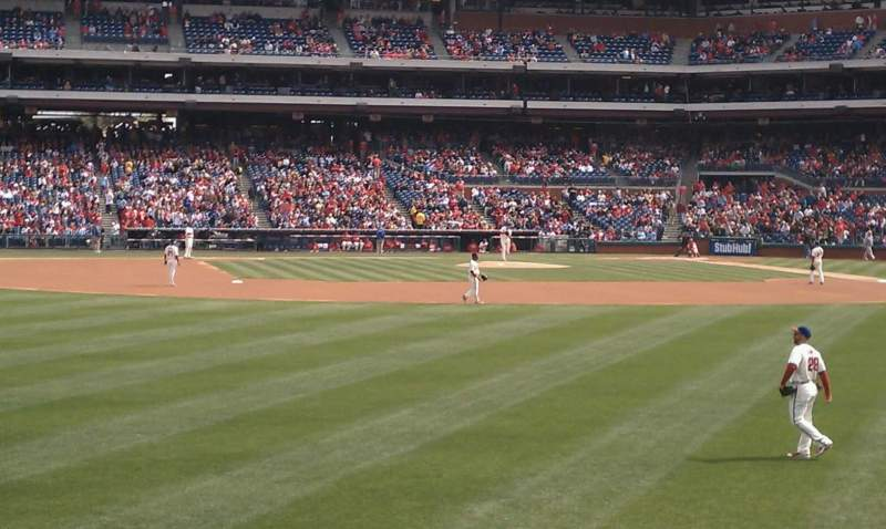 Seating view for Citizens Bank Park Section 144 Row 1 Seat 5