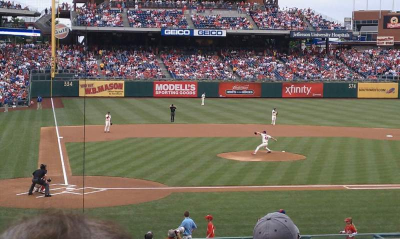 Seating view for Citizens Bank Park Section 120 Row 26 Seat 3