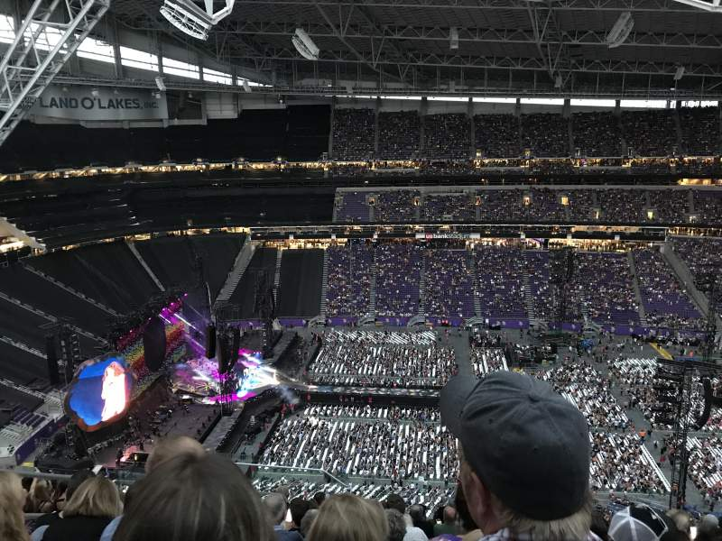 Seating view for U.S. Bank Stadium Section 341 Row 14 Seat 23